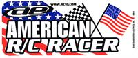 """American R/C Racer"" Bumper Sticker decal, color"